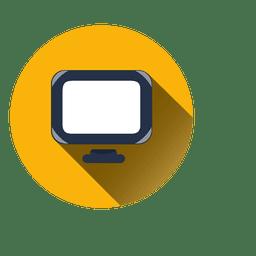 Icono de círculo de monitor