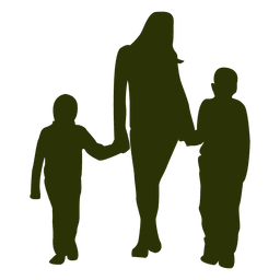 Mutter mit zwei Söhnen