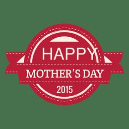 Etiqueta del día de la madre 2015