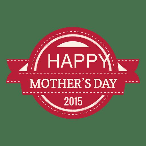 Etiqueta del día de la madre 2015 Transparent PNG