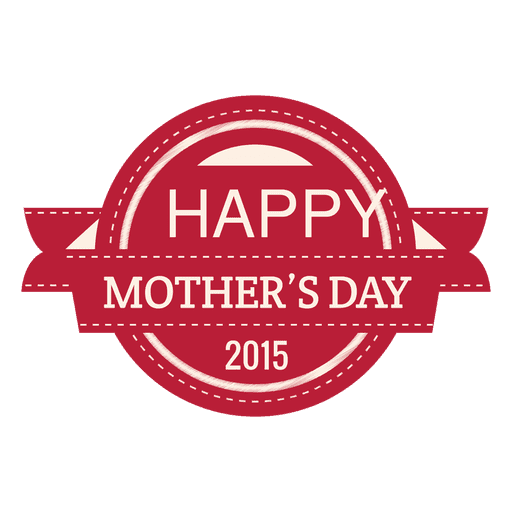 Muttertag 2015 Label Transparent PNG
