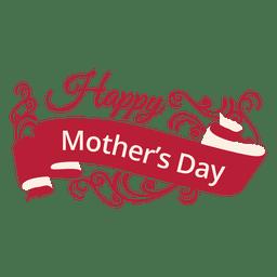 Etiqueta decorativa del día de la madre.