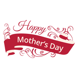 Mothers day decorative label