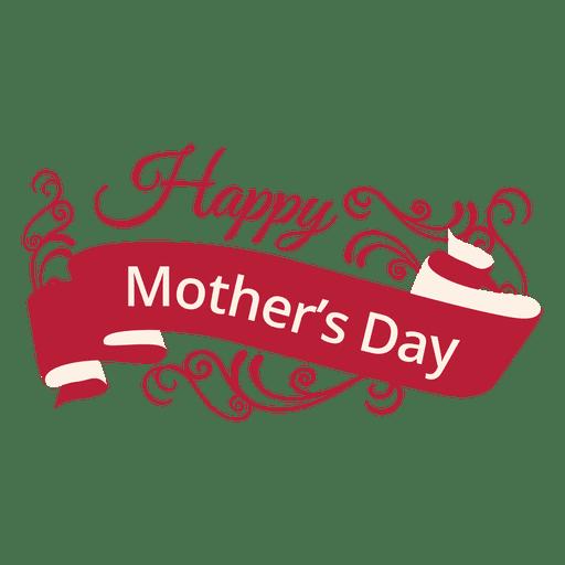 Etiqueta decorativa del día de la madre. Transparent PNG