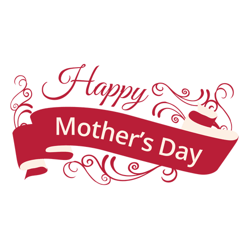Mothers day decorative label Transparent PNG