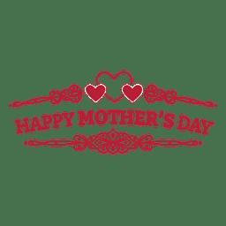 Día de la Madre insignia retro
