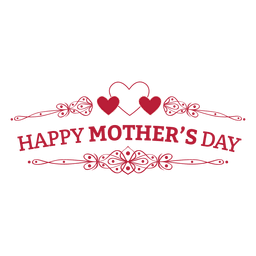 Mothers day retro badge