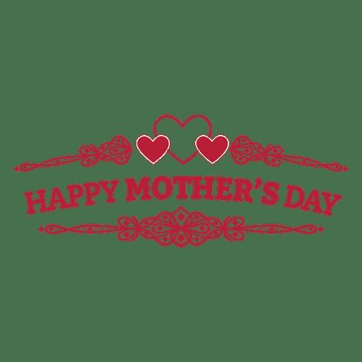 Mothers day retro badge