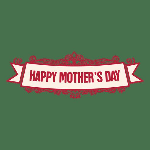 Insignia de cinta del día de la madre 2 Transparent PNG