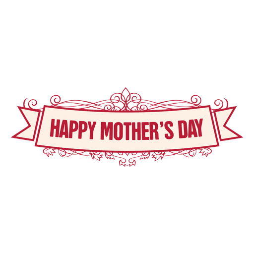 Mothers day ribbon badge 2 Transparent PNG