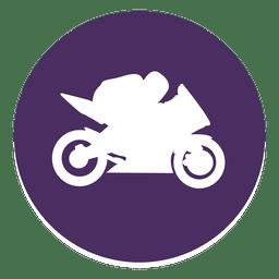 Icono de círculo de motocross