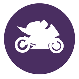 Motocross circle icon