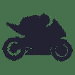 Motocross racing sport silhouette