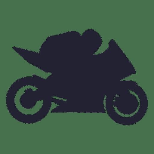 Silhueta de esporte de corrida de motocross Transparent PNG