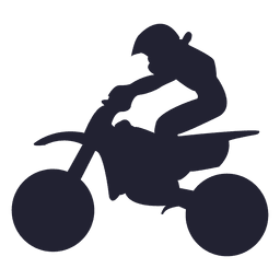 Silhueta de motocross