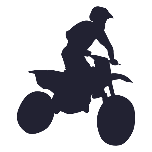Motocross sport silhouette Transparent PNG
