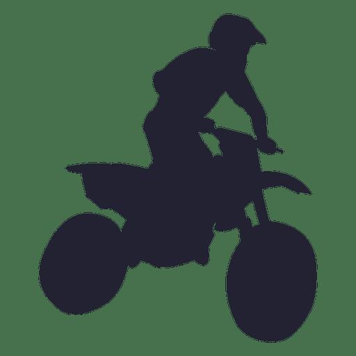 Silhueta de esporte de motocross Transparent PNG