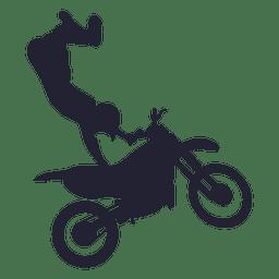 Silhueta de esporte de motocross 1