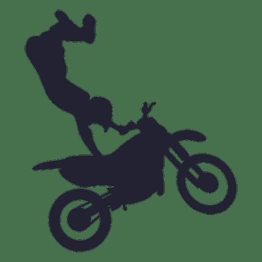 Silhueta de esporte de motocross 1 Transparent PNG