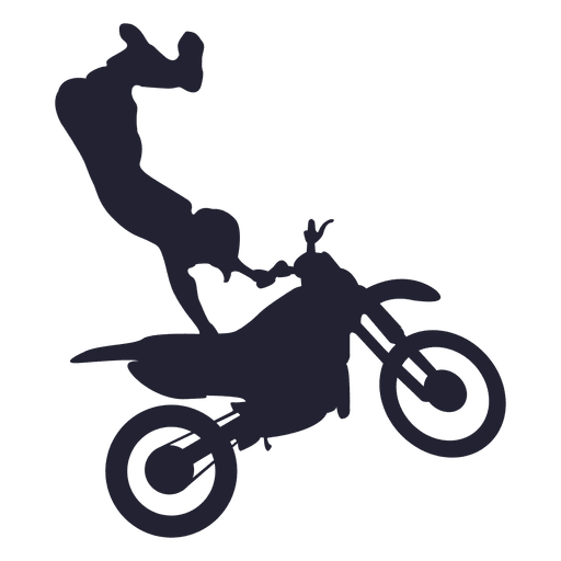 Silueta deportiva de motocross 1