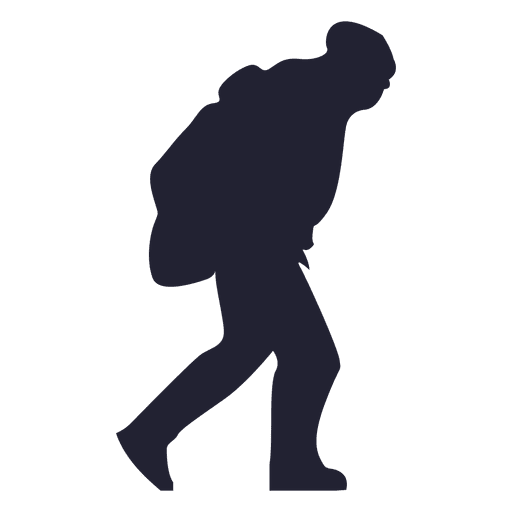 Mountain climber silhouette 2 Transparent PNG