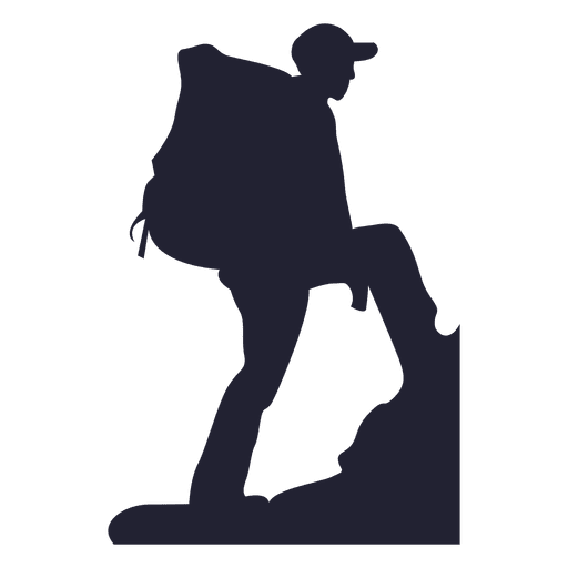 Mountain climber silhouette 3 png
