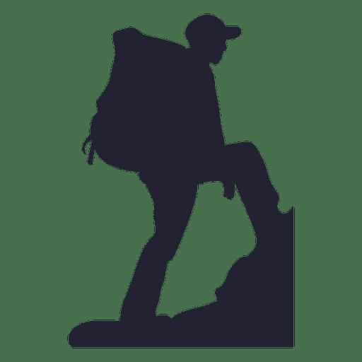 Mountain climber silhouette 3