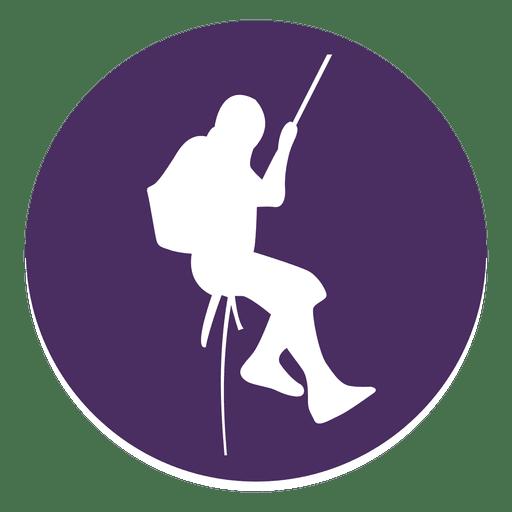 Icono de círculo de escalada de montaña Transparent PNG