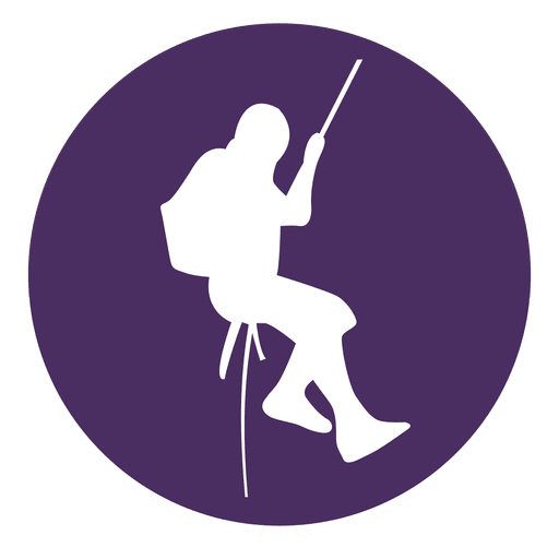 Mountain climbing circle icon Transparent PNG