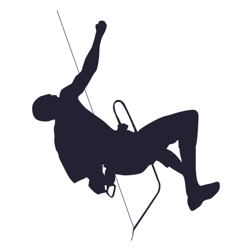 Mountain climbing silhouette Transparent PNG