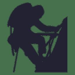 Mountain climbing silhouette 2