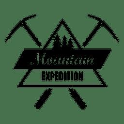 Montanha emblema expedição 1