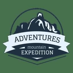 Etiqueta de expedición de montaña
