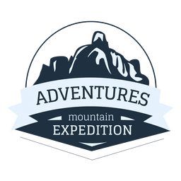 Mountain expedition label
