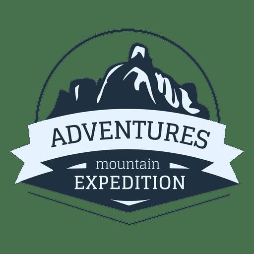 Etiqueta de expedición de montaña Transparent PNG