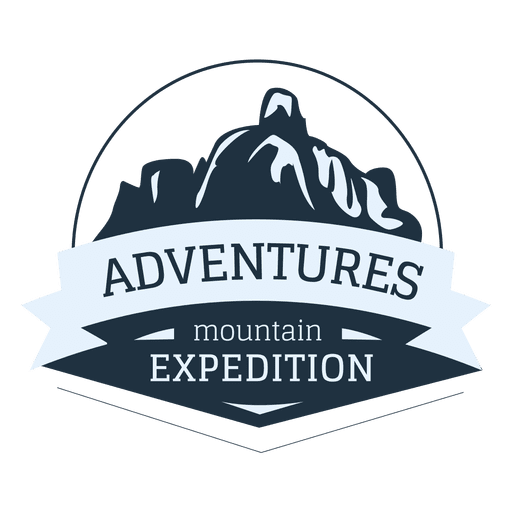 Mountain expedition label Transparent PNG