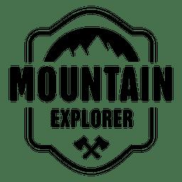 Distintivo de explorador de montanha
