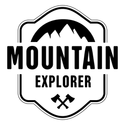 Mountain explorer badge