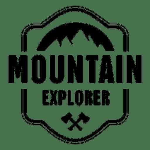 Mountain explorer badge - Transparent PNG & SVG vector