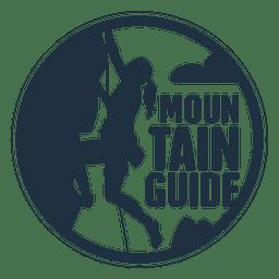 badge guia de montanha