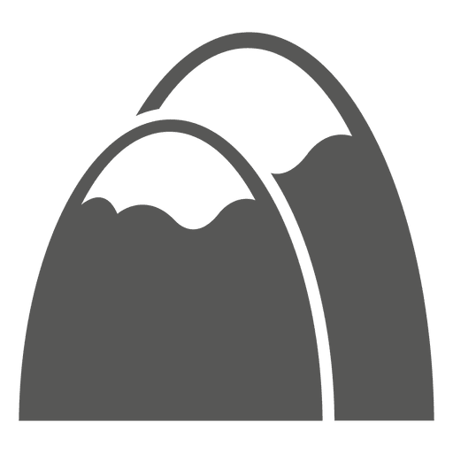 Mountains sketch icon Transparent PNG