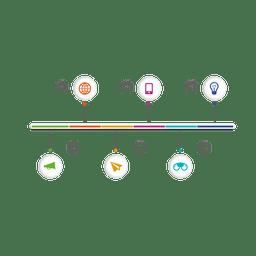 Infografía de icono de esfera multi fase