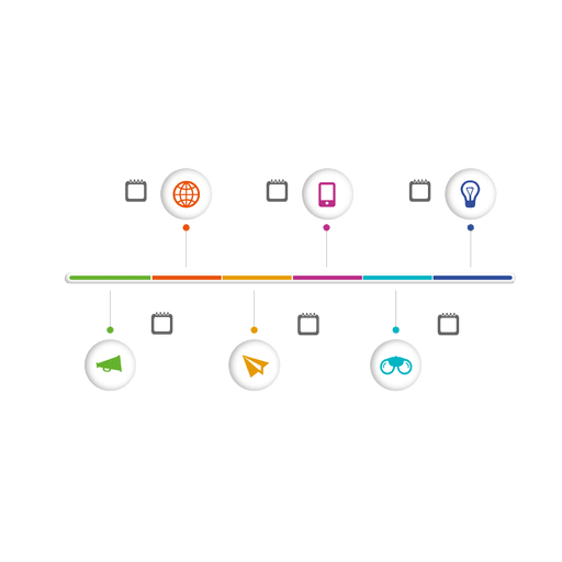 Multi phase sphere icon infographic Transparent PNG
