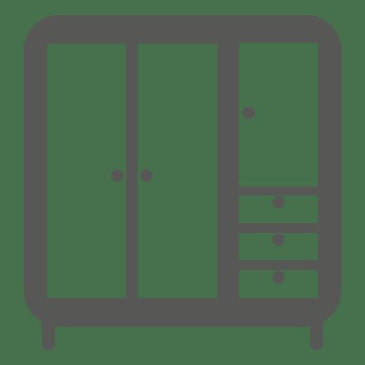 Multi armazenamento almirah icon Transparent PNG