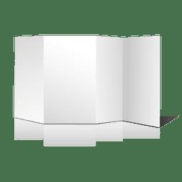 Multifold blank brochure