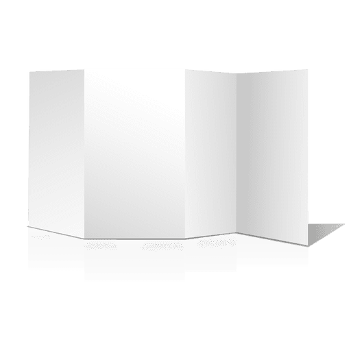 Multifold blank brochure Transparent PNG