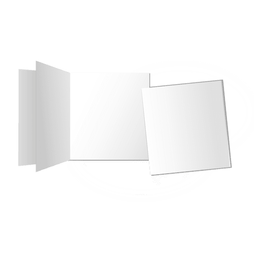 Multifold blank cards Transparent PNG