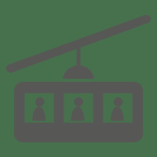 Ícono de teleférico de asientos múltiples Transparent PNG
