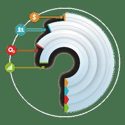 Mehrstufige runde Symbole Infografik