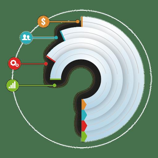 Infografía iconos redondos de varias etapas Transparent PNG